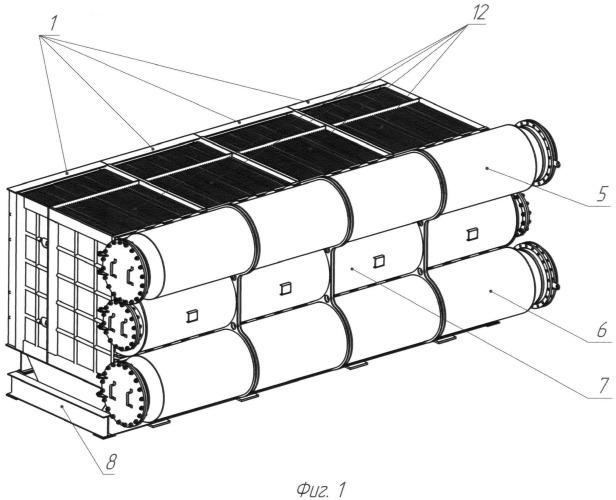 Способ монтажа модульного многоходового теплообменника
