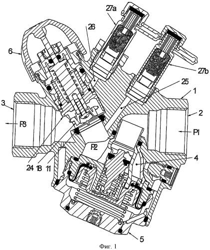 Клапан с функцией δр (перепада давления) и функцией ограничения потока