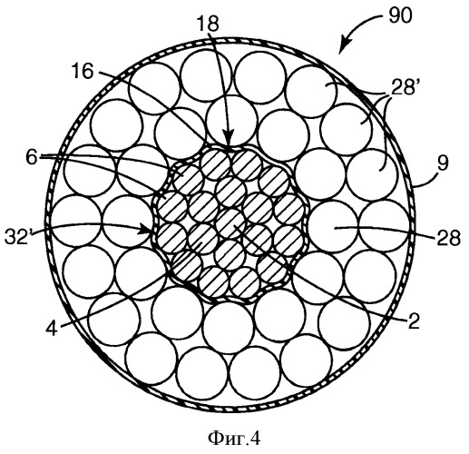 Изолированный композитный электрический кабель и способ его изготовления и использования