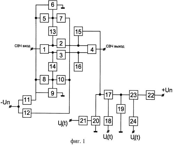 Способ усиления мощности на gan свч-транзисторах и импульсный свч-усилитель мощности