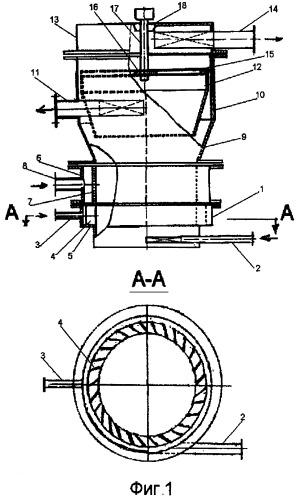 Центробежный аппарат для флотогравитации