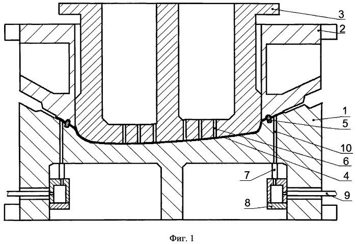 Штамп для вытяжки сложного крупногабаритного полуфабриката из листовой заготовки на прессе (варианты)