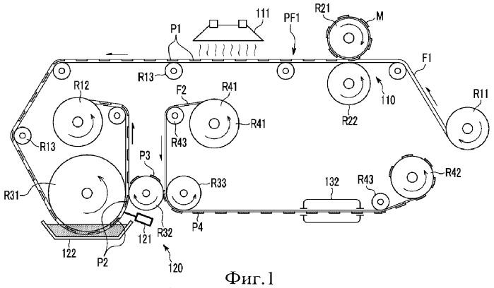 Печатное устройство, в котором применяются термическое впечатывание роликом и пластина с нанесенным рисунком (варианты), устройство пленочного ламинирования для микрожидкостного датчика и способ печати