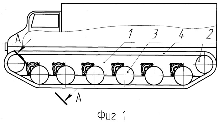 Способ и система стабилизации корпуса гусеничного транспортного средства