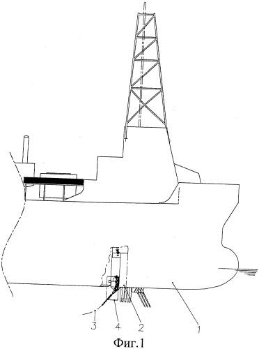 Соединительный узел для швартовной цепи для плавучего сооружения