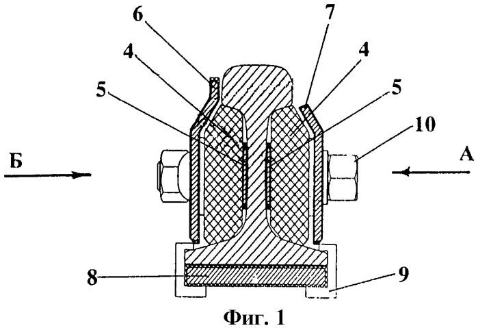Рельсовое стыковое электроизолирующее соединение