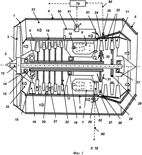 Двухконтурный газотурбинный двигатель, способ регулирования радиального зазора в турбине двухконтурного газотурбинного двигателя