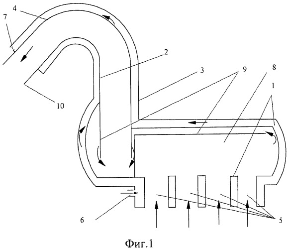Способ отвода выхлопных газов двигателя плавсредства и устройство для его осуществления