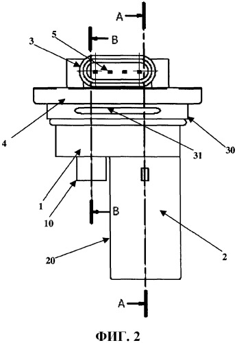 Объединенный датчик давления и уровня охлаждающей жидкости и двигатель, содержащий упомянутый датчик
