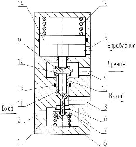 Клапан трехходовой