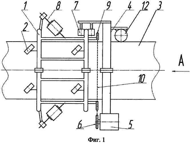 Устройство для нанесения рулонного изоляционного материала на магистральный трубопровод