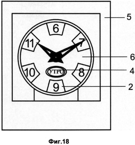 Способ индикации на часах периода суток и времени периода суток и часы с индикацией периода суток и времени периода суток