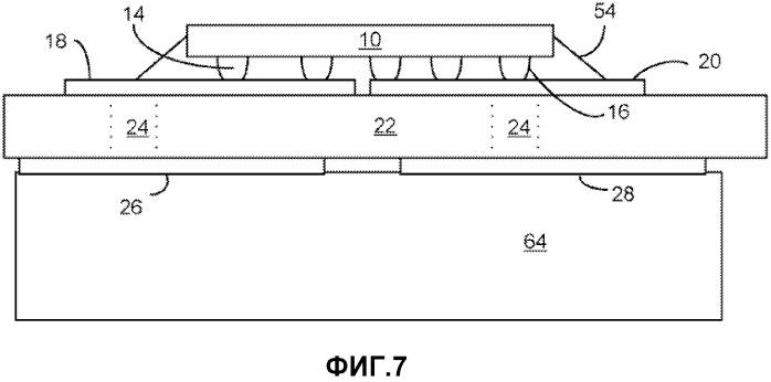 Процесс формирования прокладки для перевернутых сид