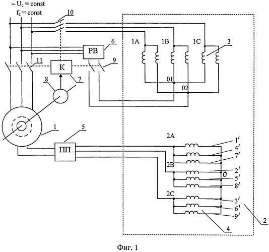 Устройство для пуска и бесщеточного возбуждения бесконтактной синхронной машины