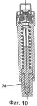 Одноразовый инъектор с, по меньшей мере, одним тяговым стержнем и с подвижным клиновым механизмом для снимающего предохранение отпускания блокировочного элемента