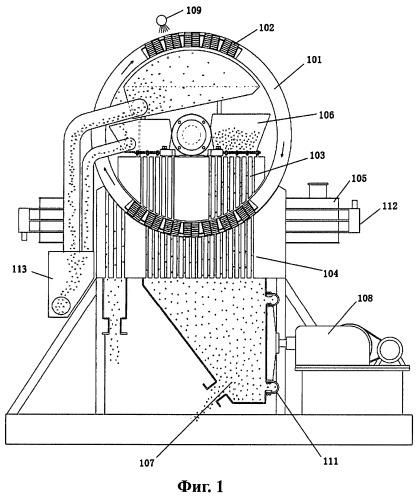 Вертикальный кольцевой магнитный сепаратор для удаления железа из угольной золы и способ его применения