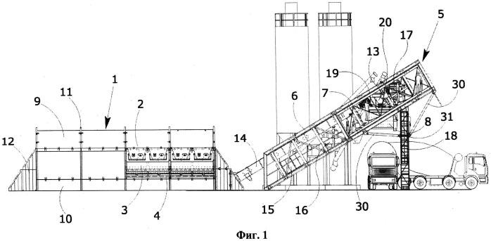 Передвижная установка для смешивания бетона, которая может устанавливаться на транспортных средствах