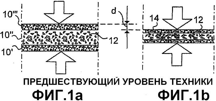 Древесностружечная плита со средним слоем из дефибрированных древесных частиц