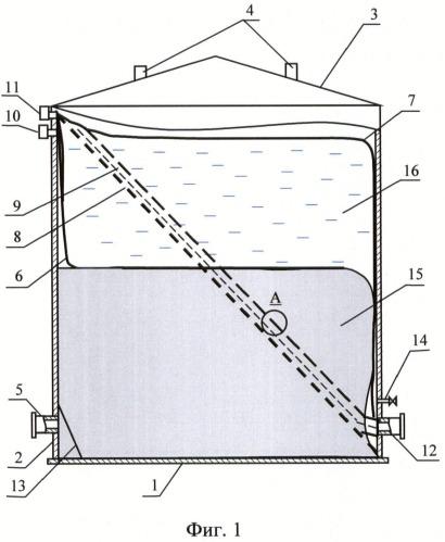 Резервуар для хранения жидких углеводородов