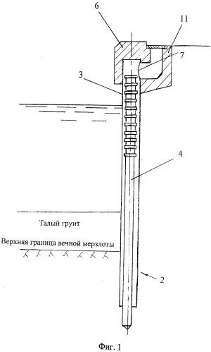 Подпорная стенка на многолетнемерзлом грунте (варианты)