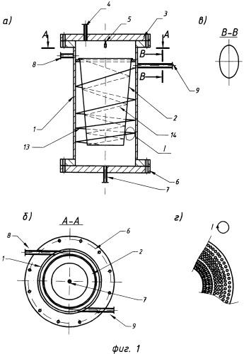 Тепломассообменное устройство вихревого типа