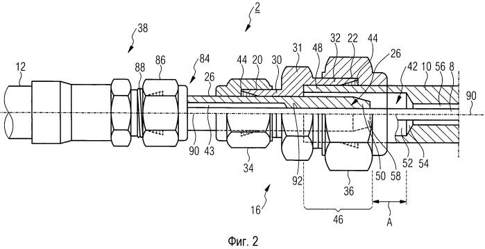 Уплотнительное устройство для устройства измерения уровня заполнения в напорном резервуаре ядерной технической установки