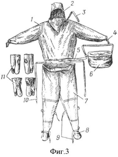 Защитный костюм спасателя для работы при разборе завалов