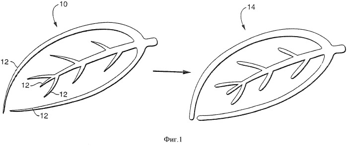Изделия с рельефными изображениями, имеющими линии уменьшающегося веса