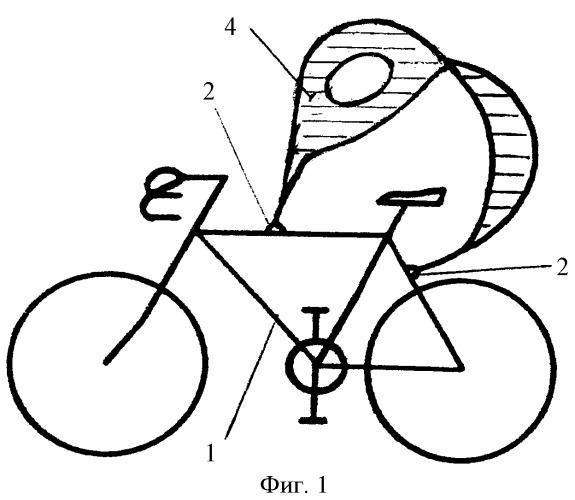 Дополнительное опорное устройство для плеч и спины велосипедиста