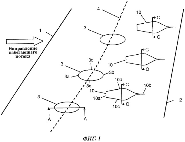 Конструкция выступа для изменения структуры скачка уплотнения