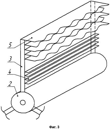 Барабан трепальной машины для обработки лубяных волокон