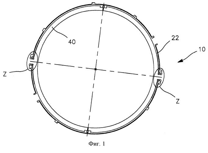Турбина высокого давления с усовершенствованной камерой регулирования радиального зазора подвижных лопаток и турбомашина, использующая такую турбину