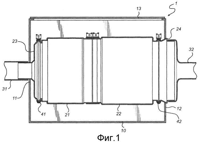 Устройство для очистки потока выхлопных газов со съемным модулем