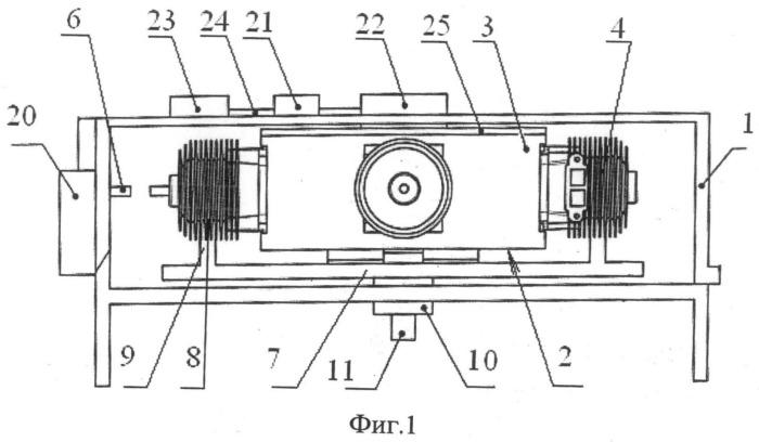 Би-ротативный двигатель внутреннего сгорания с воздушным охлаждением
