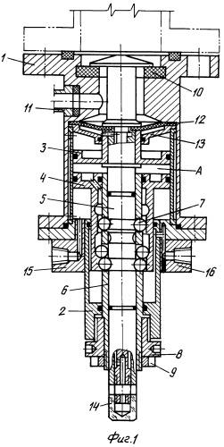 Клапан нижнего спуска с встроенным пневматическим приводом