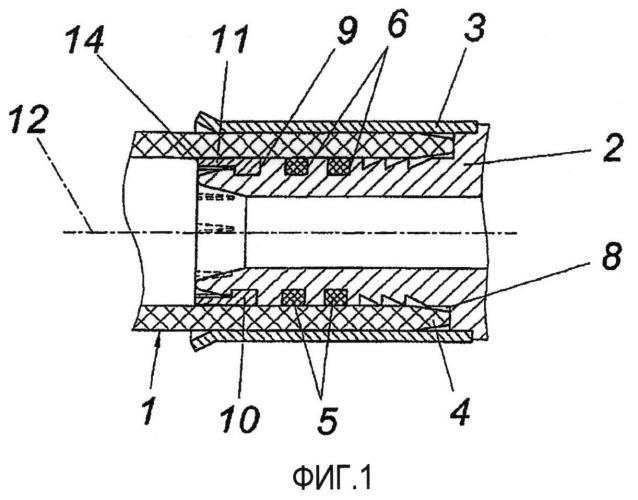 Устройство для подсоединения пластмассовой трубы к соединительному ниппелю