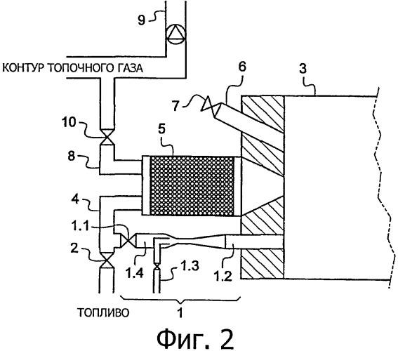 Устройство и способ управления несгораемыми остатками в рекуперативных горелках, включающих такое устройство