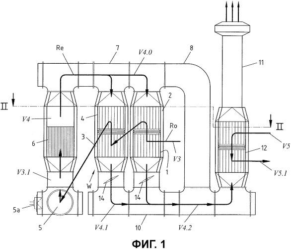 Способ и устройство для термического дожигания отработанного воздуха, содержащего окисляемые вещества