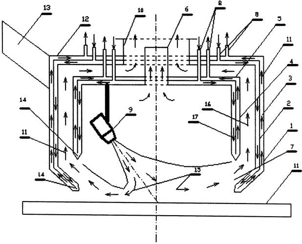 Охлаждаемое вытяжное защитное вентиляционное устройство