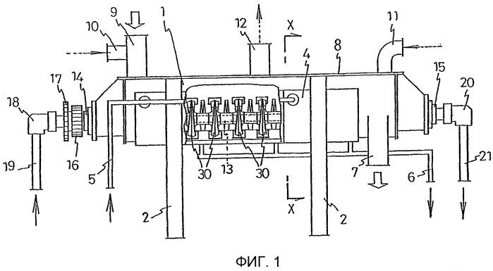 Теплообменное устройство для порошкового и гранулярного материала и способ его изготовления