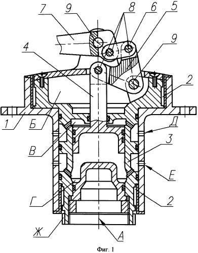 Привод несущей управляющей плоскости летательного аппарата