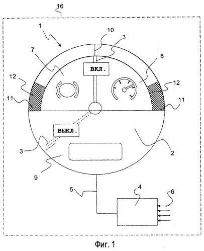 Способ и устройство для указания состояний движения гибридного автомобиля