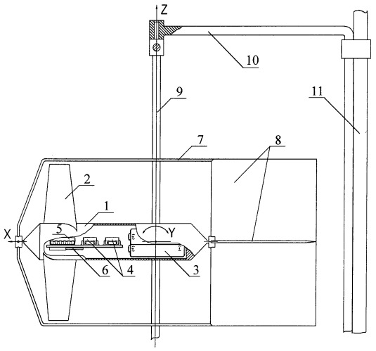 Автономное устройство для регистрации скорости и направления течения жидкости и газа