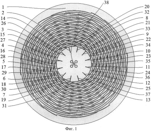 Щелевая полосковая антенна вытекающей волны с круговой поляризацией