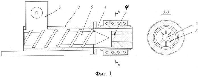 Шнековый пресс-экструдер для формования брикетов из опилок