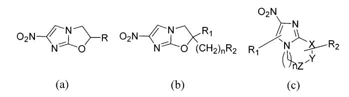 Бициклические нитроимидазолы, ковалентно соединенные с замещенными фенилоксазолидинонами