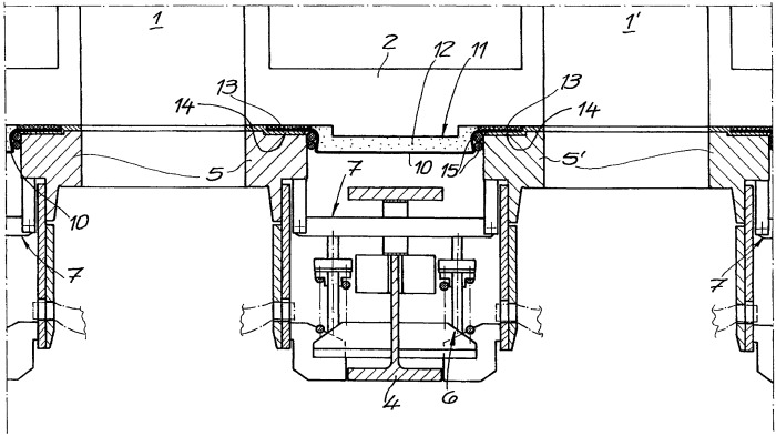 Стеновая защита оголовка нагревательной стенки между двумя отверстиями печных камер коксовой батареи