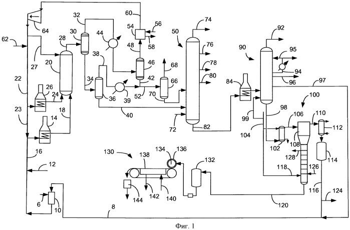 Способ и установка для отделения пека от подвергнутого гидрокрекингу в суспензионной фазе вакуумного газойля и его состав