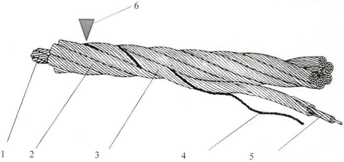 Трос для повышения точности измерений, оборудованный магнитной нитью