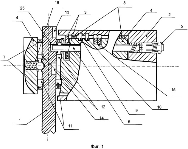 Ручка управления двигателем для одновременного отклонения сопла в вертикальной и горизонтальной плоскостях